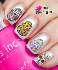 20 Mixed Set SUGAR SKULLS GOTH Nail Waterslide Decals Nail Transfers Nail WRAPS