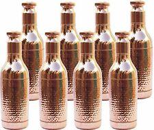 Hammered Design Handmade Copper Champagne Bottle Health Benefit 1 Liter Set Of 8