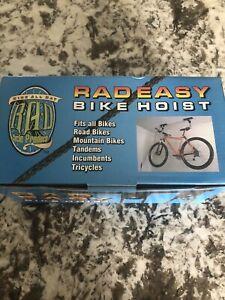 Rad Easy Bike Hoist Ceiling Mount For Road or Mountain Bike 100LB - Q