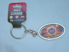 New York NY METS  Silver Spinner Metal KEYCHAIN / KEYRING   by Rico  NWT