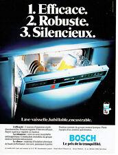 Publicité Advertising 078  1978   lave vaisselle Bosch encastrable