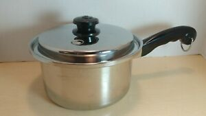 Saladmaster T304S Tri-Clad Surgical Stainless 3 Qt Saucepan w Vapo Lid - USA