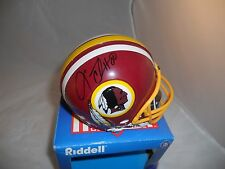 Laveranues Coles Washington Redskins Signed Mini Football Helmet PSA Guaranteed