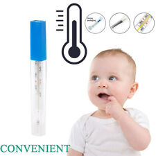 MERCURY-FREE Thermometer Scale Traditional Glass Clinical Accuracy Body Cold