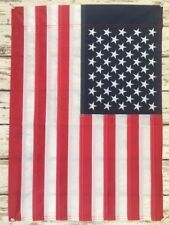 "12"" x 18"" Embroidered American Garden Flag w/ Sleeve -Sewn Stars & Stripes ~ USA"