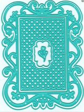 Nellie's Choice Intricate Cutting Die(s) VINTASIA RECTANGLE WITH GRID  ~VIND012