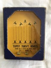 Vintage Handheld Puzzle Game Topsy Turvy Rivets Hand Held Portable Patience