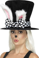Unisex Fairy Tale Fancy Dress Tea Party March Hare Top Hat Black Pack Of 3