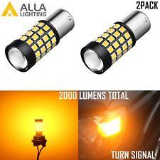Alla Lighting 7507NA 51-LED Turn Signal Light Bulb Blinker Lamp Amber Yellow,2pc
