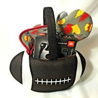 Football Theme Gift Basket Griller Holiday J22 Headphones Griller Recipe Book