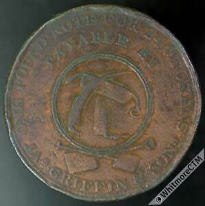 19th Century Penny Token Withymoor 1216 1814 Scythe Works / Jas Griffin