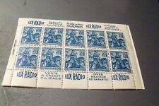 France # 245a partial booklet  (1 pane ) MNH with back cover
