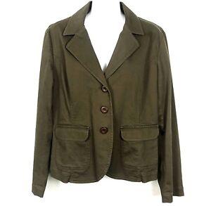 Talbots Women's 12 Jacket Light Coat Blazer Stretch Button  Medium Large M - L