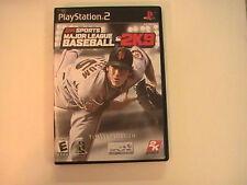 2009 2k Sports 2K9 Major League Baseball Play Station 2 Tested Good Complete