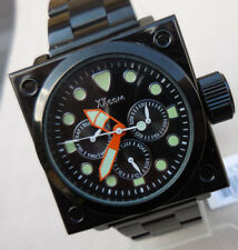 MONTRE XXCOM-5248G,MODEL CARRE MIXTE,LAQUE NOIR,6 FONCTIONS,Ex stock horlogerie