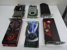LOT 6x graphic card ( ATI, NVIDIA and.....) FOR PART * AS IS *