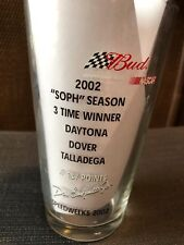 "Dale Earnhardt Jr 8  Bud/Budweiser Beer Glass Nascar 2002 ""SOPH"" Season Rare"