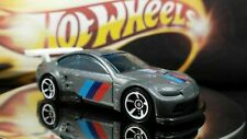 Hot Wheels BMW M3 GT2 Gray White Spoiler Clear Blue Windows 1/64 loose Racing