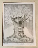 Signed Print of Pencil Drawing Treehouse 15/16 Stephen Parrington         LS0497