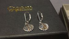 Welsh Clogau Silver & Rose Gold Shell Drop Earrings RRP £149