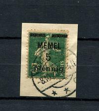Memel - Nr. 18a Briefstück. Tiefst geprüft Huylmans  (D609)