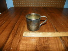 Vintage 1881 Rogers Silverplate Childs Cup w Spoon Handle