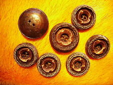 LOT OF 9 BUTTONS 31 mm 1 1/4 '' inch FLOWERS  FOR SABLE FOX MINK FUR COAT n8-12
