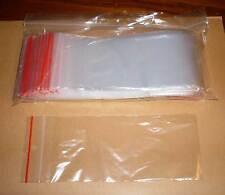 500 Tütchen Polybeutel 80 x 180 länglich lang Druckverschlussbeutel Zip Tüten
