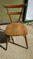 Ercol Vintage Model 461 Blue Dot Double Bar Backed Stacking Dining Chair