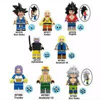 LOTE 8 FIGURAS DRAGON BALL HEROE - ESTILO LEGO COMPATIBLES BLOQUES CONTRUCCIÓN