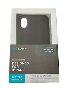 Speck Presidio Pro Impact Resistant Antimicrobial Case Cover for iPhone X / XS