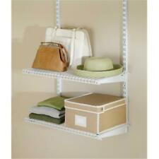 Rubbermaid Configurations Closet Shelf Kit White Fg3H9103Wht