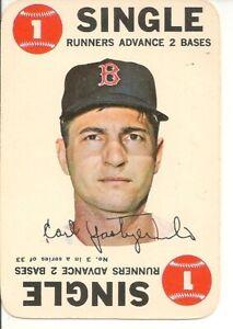 "1968 Topps Baseball Game Card Carl Yastrzemski ""Single"""