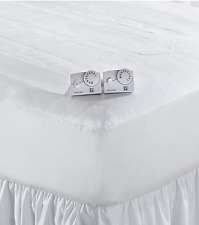 Living Quarters Automatic White Queen Size Heated Mattress Pad Dual Control