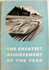 MG The Greatest Achievement of the Years Original Car Publicity Peice Jun 1939