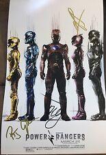 The Power Rangers Movie Poster Cast Signed Autograph Photo Dacre Rj Ludi