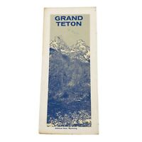 Vintage 1966 Grand Teton Wyoming National Park Service Travel Road Map Brochure