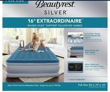 Beautyrest Sky Rise Raised Air Mattress with Hands-free Express Pump, Full