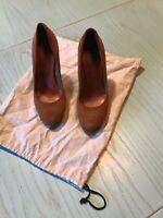 Scarpe Con Tacco donna scamosciata colore marrone con plateau tg.36