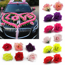50Pcs Artificial Flowers Mini Foam Roses with stem Wedding Bouquet Decor  UK