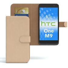 Tasche für HTC One M9 Case Wallet Schutz Hülle Cover Hellbraun