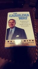 DEAN SMITH signed THE CAROLINA WAY Leadership Lessons 1st Ed Book UNC TARHEELS