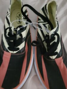 Sperry Top Sider Crazy Pattern STS17604 Men's Size 9M  yellow org black CANVAS