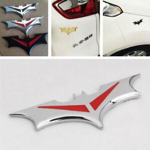 Silver Metal Bat Batman Logo Emblem DIY Decoration Sticker Decal Self Adhesive