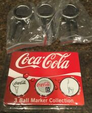 Coca Cola Coke Golf Ball Marker divit tool collection kit of 3 collectable gift