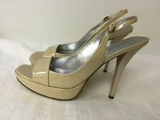 GUESS NUDE LEATHER UPPER  Judy Ann 4.5 '' SPIKE  HEEL SHOES  7 1/2 M