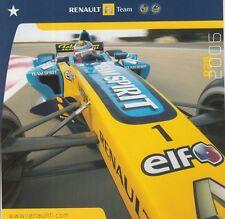 Renault espíritu de equipo de Fórmula 1 Tarjeta Promo Series, que él describe, Alonso 2006 F1.