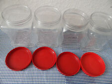 Lot 4 Empty Clear Plastic Easy Grip Storage Containers 48 Liquid Ounces Each
