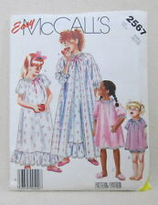 Easy McCalls 2567 - Childrens Sleepwear - Petite/Small