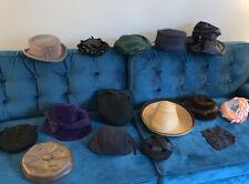 Lot Vintage Hats Straw Pillbox Newsboy Veiled Lazarus Glenover Lucienne Pollack